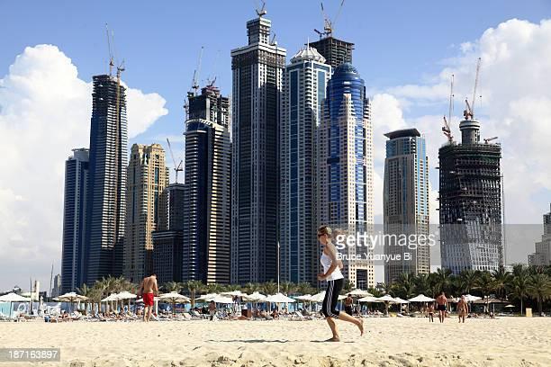 Jumeirah Beach and high rise buildings