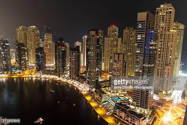 Jumeirah Beach Residence Towers from Dubai Marina