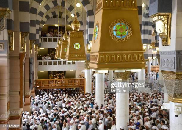 Jummah at the Prophet's Mosque, Medina, Saudi Arabia.