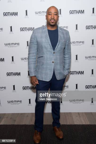 Jumoke Mendez attends Gotham Magazine's Celebration of it's Late Spring Issue with Noah Syndergaard at 1 Hotel Brooklyn Bridge on May 22 2017 in...