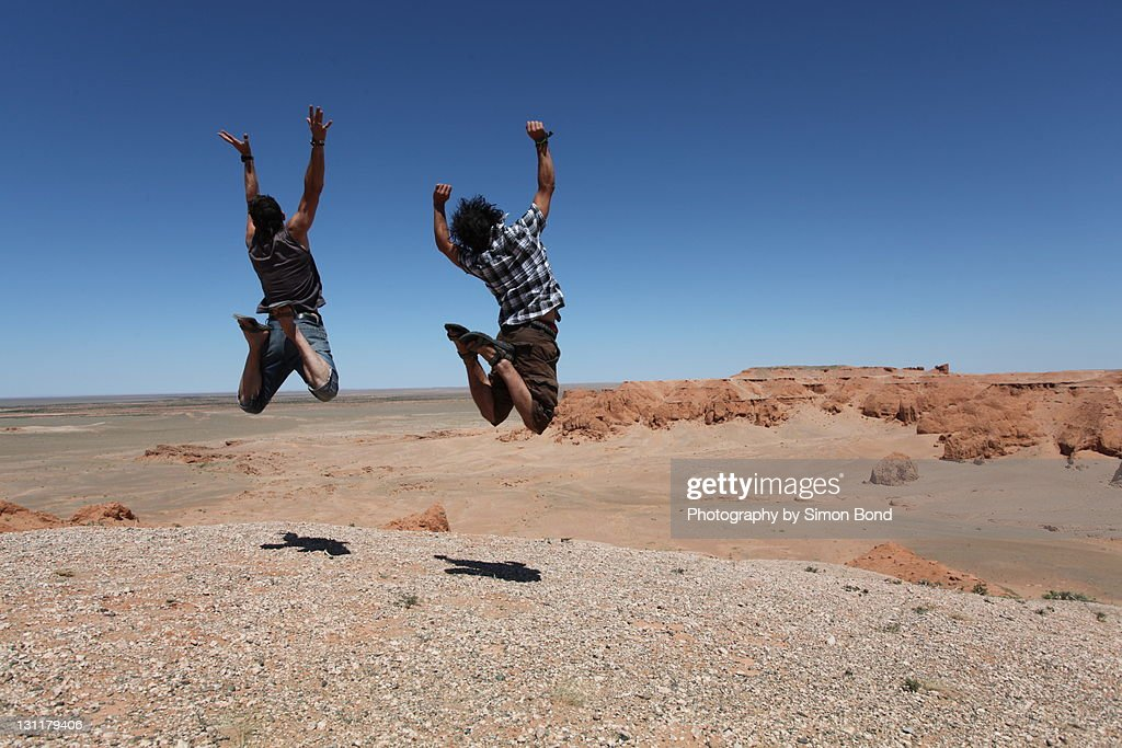 Jump for freedom : Stock Photo