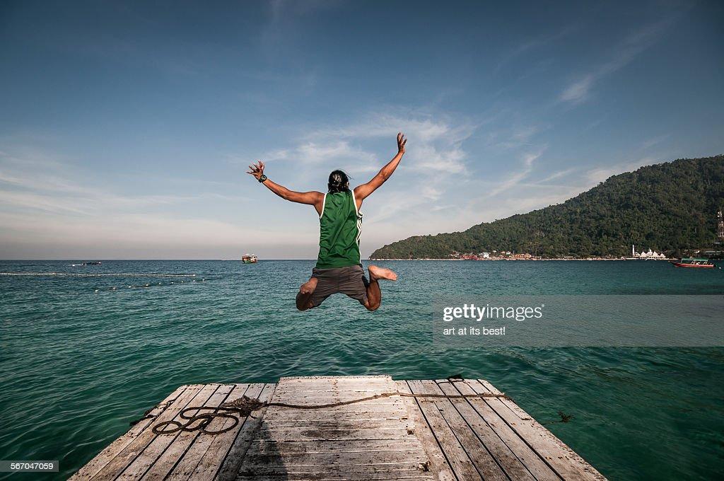 Jump into the ocean