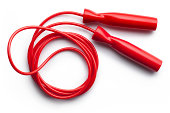 Red jump rope.