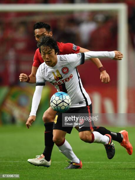 Jumpei Kusukami of Western Sydney in action during the AFC Champions League Group F match between Urawa Red Diamonds and Western Sydney at Saitama...