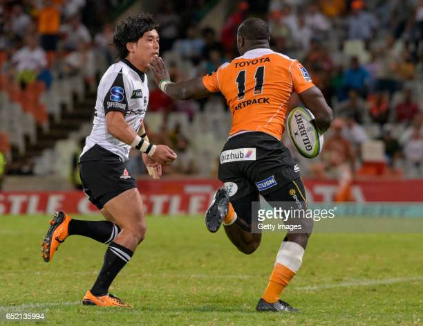 Jumpei Ogura of Sunwolves in action during the Super Rugby match between Toyota Cheetahs and Sunwolves at Toyota Stadium on March 11 2017 in...