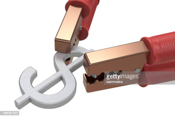 Jumper Kabel mit Dollar-Symbol