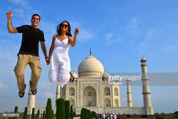 Jumping at Taj Mahal