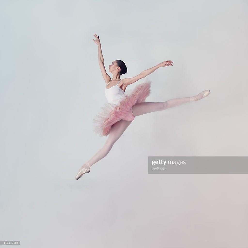 Jumping ballet dancer