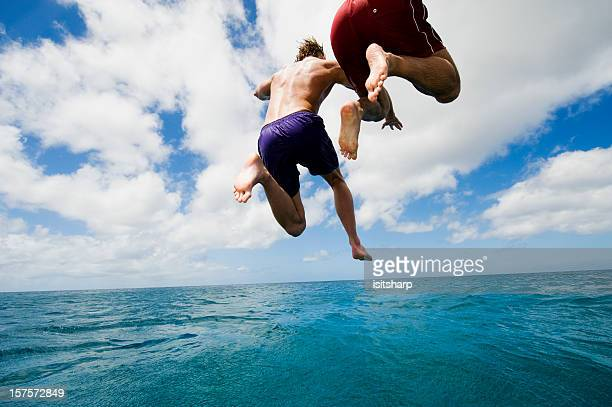 Jumping into Sea