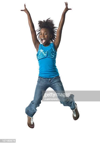 Jumping kleines Mädchen