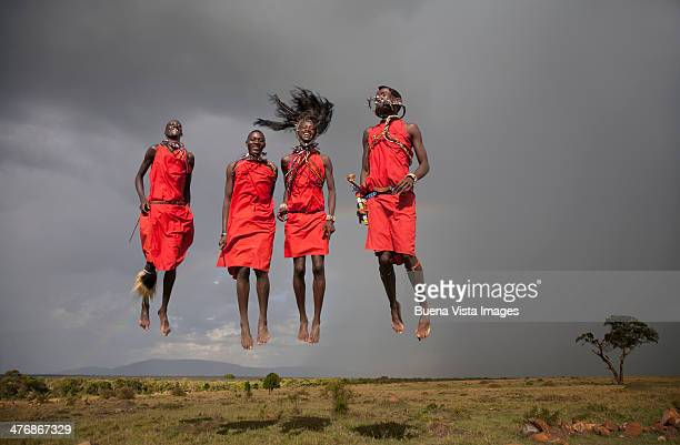 Jumping Masai men.