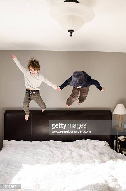 jumping off the bed
