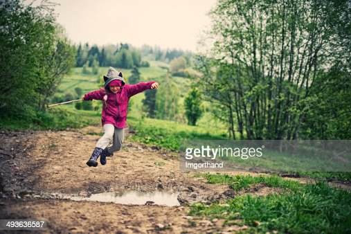 Jumping over spring puddles