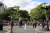 Jumping rope game at Union Square