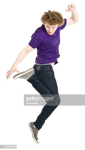 Jumping Teenage Boy