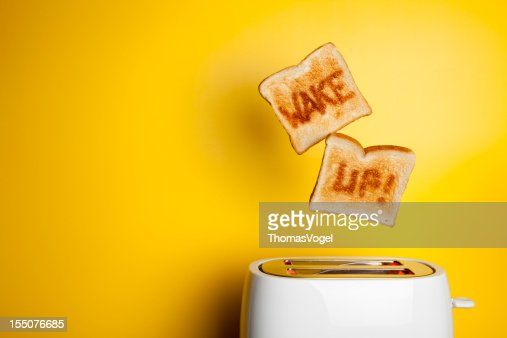 Jumping toast bread - Wake up!