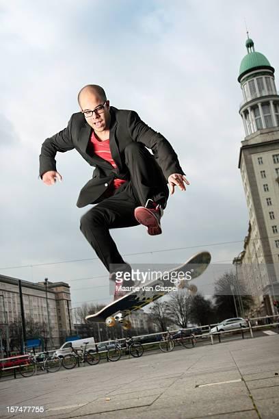 Jumping Urban Skater