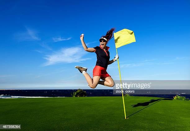ジャンプ、ゴルフボール