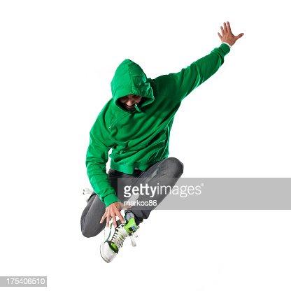 ジャンプ若いダンサー