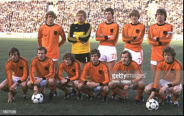 Team photograph of the Dutch team before the World Cup Final match between Argentina and Holland at the Monumental Stadium in Buenos Aires Argentina...