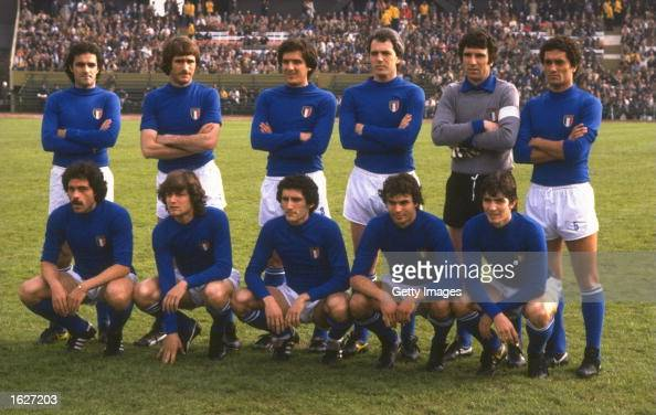 The Italian team before the World Cup SemiFinal match against Brazil in Buenos Aires Argentina Brazil won the match 21 Mandatory Credit Allsport UK...