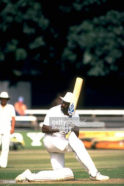 West Indies Captain Clive Lloyd in action during a match Mandatory Credit Adrian Murrell/Allsport
