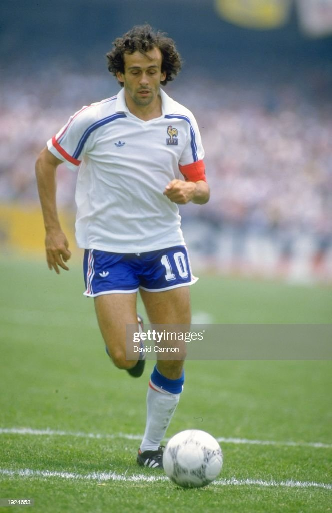 <a gi-track='captionPersonalityLinkClicked' href=/galleries/search?phrase=Michel+Platini&family=editorial&specificpeople=206862 ng-click='$event.stopPropagation()'>Michel Platini</a> of France in action during the World Cup Second Round match against Italy at the Plympic Stadium in Mexico City. France won the match 2-0. \ Mandatory Credit: David Cannon/Allsport