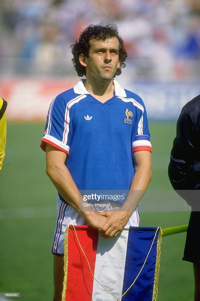 Portrait of <a gi-track='captionPersonalityLinkClicked' href=/galleries/search?phrase=Michel+Platini&family=editorial&specificpeople=206862 ng-click='$event.stopPropagation()'>Michel Platini</a> of France before the World Cup First Round match against Canada at the Nou Camp Stadium in Le=n, Mexico. France won the match 1-0. \ Mandatory Credit: Allsport UK /Allsport
