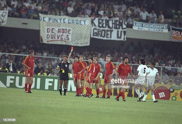 Image result for 1990 world cup eric gerets sent off