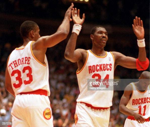Houston Rockets Nba Championships: Hakeem Olajuwon Rockets Stock Photos And Pictures