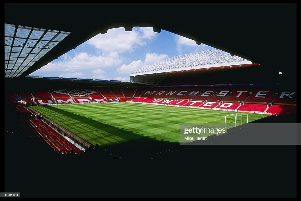 A general view of Old Trafford Manchester home of Manchester United football club and site of the 1996 European Football Championships Mandatory...