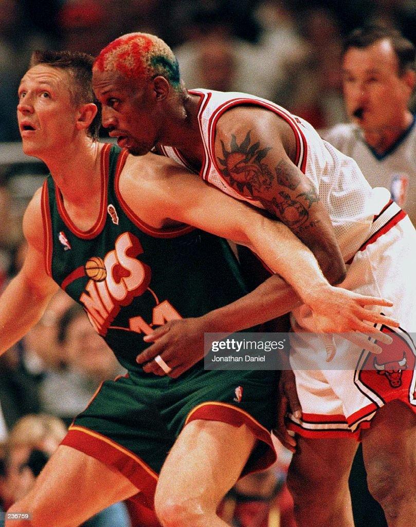 Sonics v Bulls Rodman