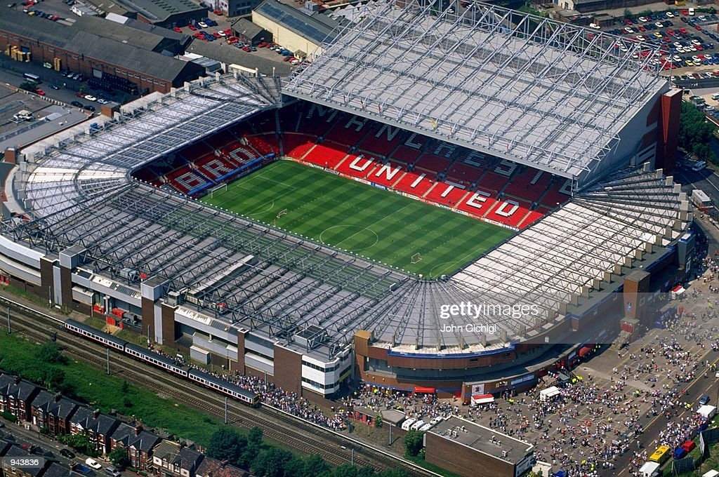 General aerial view of Old Trafford before the European Championship Group C match between Russia and Germany in Manchester England Mandatory Credit...