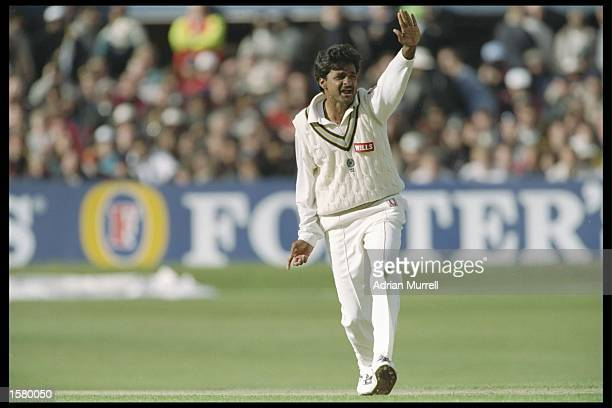 Javagal Srinath of India in action during the second one day international between England and India at Headingley Leeds Mandatory Credit Adrian...