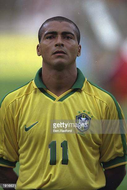 A portrait of Romario of Brazil before Le Tournoir match against France in Lyon France Mandatory Credit Ben Radford /Allsport