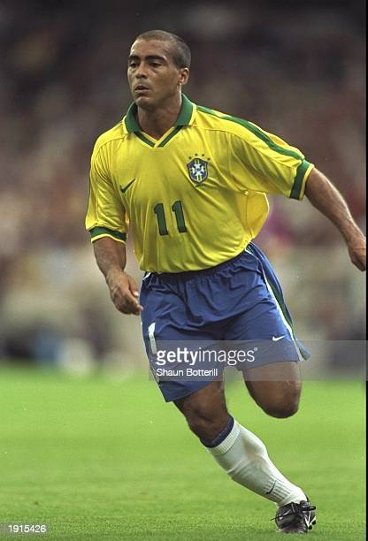 Romario of Brazil makes a run during the match in the Tournoi de France against Italy in Lyons France The game ended 33 Mandatory Credit Shaun...