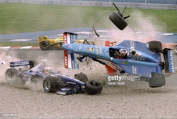 A general view of Wurz crash during the Canadian Grand Prix in Canada