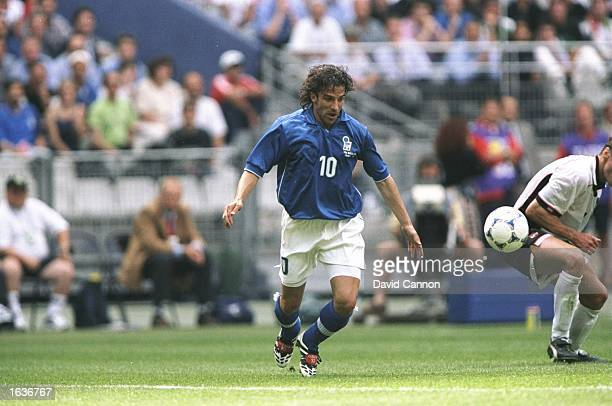 Alessandro del Piero of Italy on the ball during the World Cup group B game against Austria at the Stade de France in St Denis France Italy won 21...