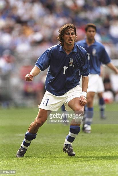 Dino Baggio of Italy in action during the World Cup group B game against Austria at the Stade de France in St Denis France Mandatory Credit David...