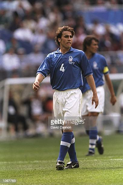 Fabia Cannavaro of Italy during the World Cup group B game against Austria at the Stade de France in St Denis France Mandatory Credit David Cannon...