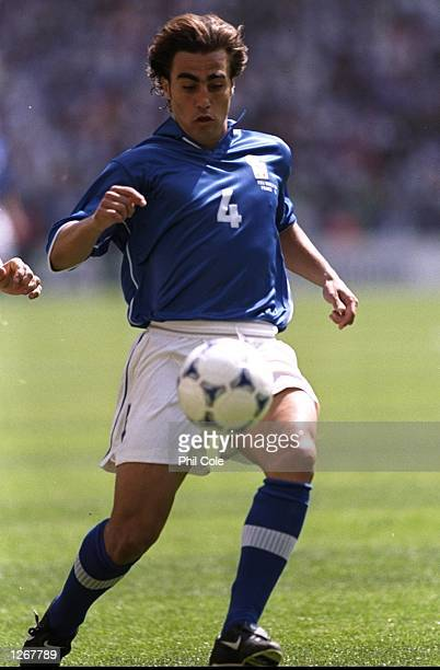 Fabia Cannavaro of Italy during the World Cup group B game against Austria at the Stade de France in St Denis France Mandatory Credit Phil Cole...