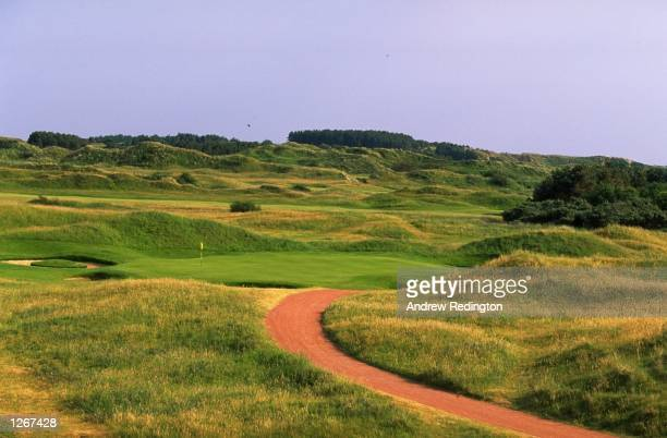 General view of the 140 yard par 3 seventh hole at Royal Birkdale Golf Club in Lancashire England Mandatory Credit Andrew Redington/Allsport