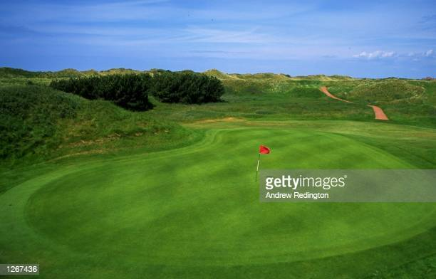 General view of the 159 yard par 3 12th hole at Royal Birkdale Golf Club in Lancashire England Mandatory Credit Andrew Redington/Allsport