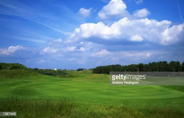 General view of the 499 yard par 5 15th hole at Royal Birkdale Golf Club in Lancashire England Mandatory Credit Andrew Redington/Allsport