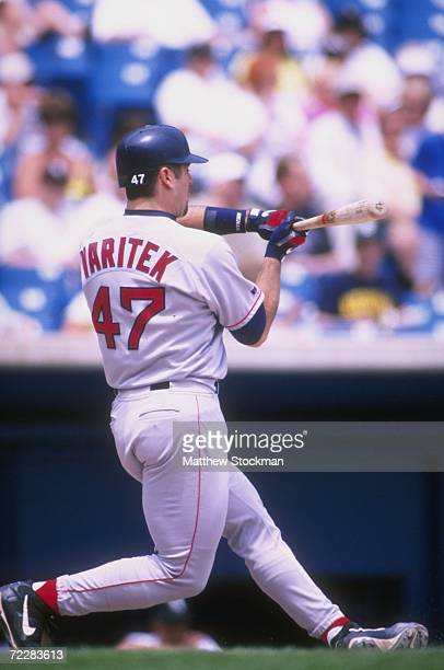 Jason Varitek of the Boston Red Sox in action during a game against the Chicago White Sox at Comiskey Park in Chicago Illinois The Red Sox defeated...