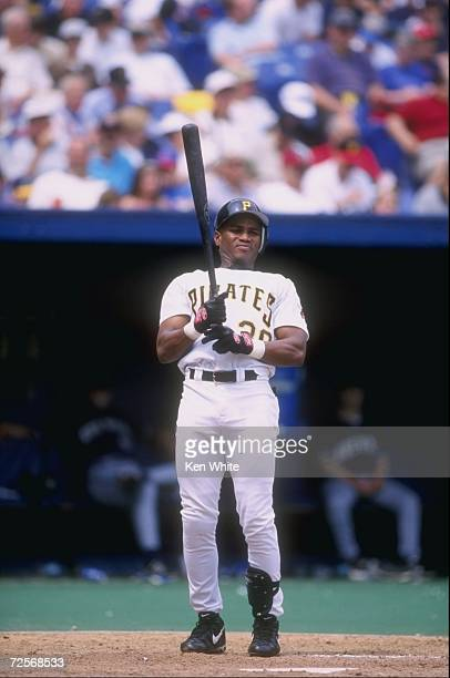 Manny Martinez of the Pittsburgh Pirates in action during a game against the Milwaukee Brewers at the Three Rivers Stadium in Pittsburgh Pennsylvania...