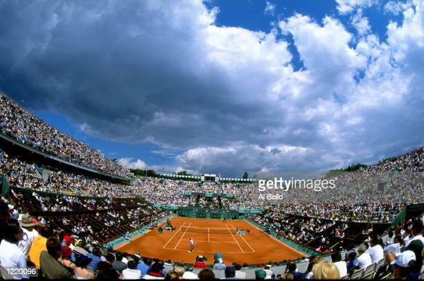 A general view of centre court during day ten of the 1999 French Open played at Roland Garros in Paris France Mandatory Credit Al Bello /Allsport