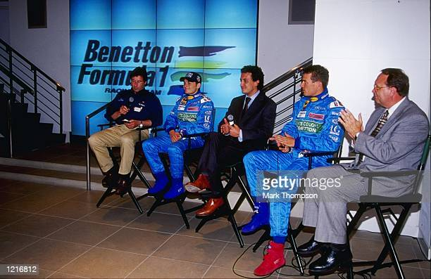 Fred Nation Director of Corporate Communications for the Indianapolis Speedway Benetton Playlife Mild Seven driver Alexander Wurz Chief Executive...