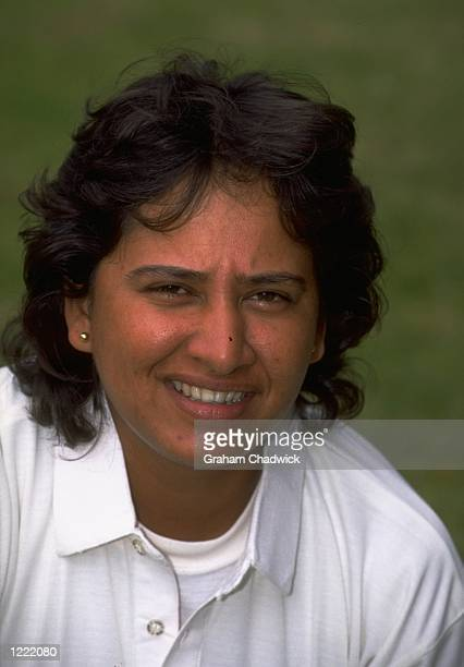 Portrait of Arati Vaidya of the Indian Women's Cricket Team Mandatory Credit Graham Chadwick /Allsport