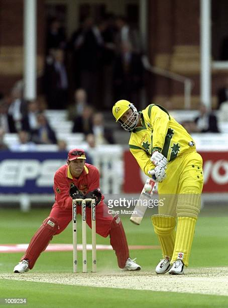 Tom Moody of Australia in action against Zimbabwe in the World Cup Super Six match at Lord's in London Australia won by 44 runs Mandatory Credit...